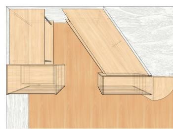 Проект гардероба, корпус, вид сверху.