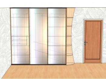 Проект гардероба корпус вид с фасадом.