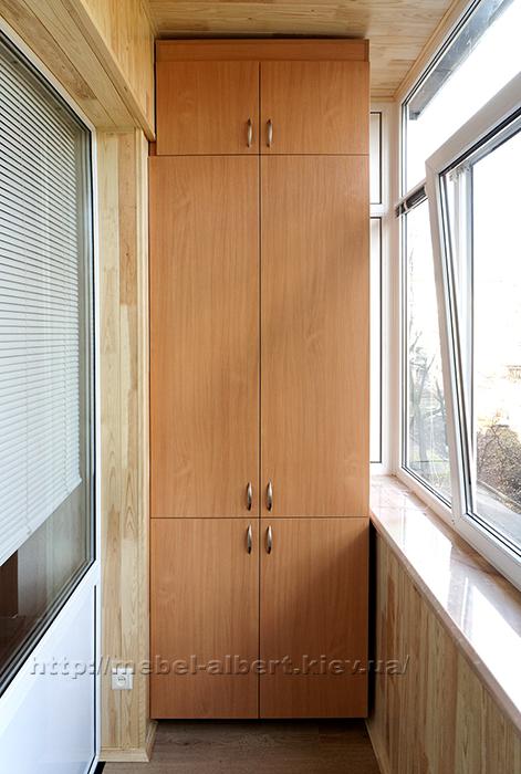 Недорогие встроенные шкафы для балконов,лоджий кладовых и др.