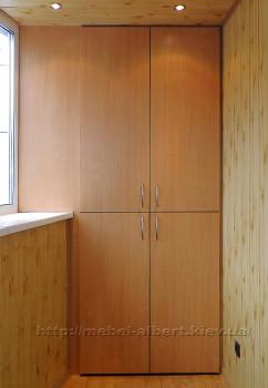 Встроенный шкаф для балкона с выносом