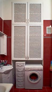 Встроенный шкаф для ванной с вентелируемым фасадом